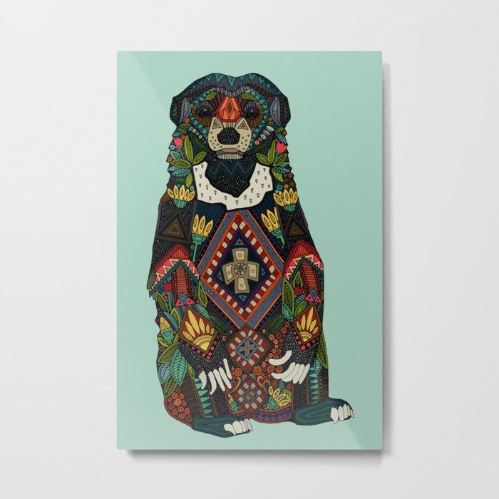 sun bear mint Metal Print