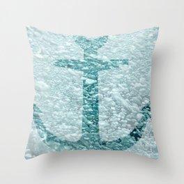 A Rising Anchor Throw Pillow