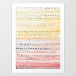 Sunset Stitch Art Print