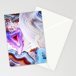 Agate, a vivid Metamorphic rock on Fire Stationery Cards