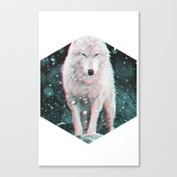 hologram Canvas Prints featuring hologram wolf by Avalon Corvus
