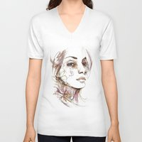 obey V-neck T-shirts featuring Obey by Bruno Gonçales