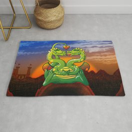Dragons Madly in Love Rug