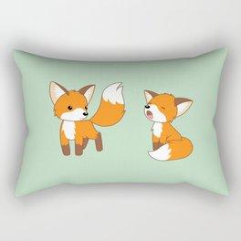 Cute Little Foxes Rectangular Pillow