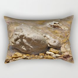 Rocks In The Current Rectangular Pillow