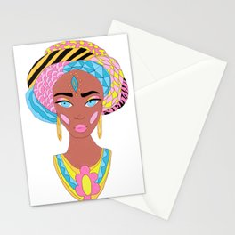 Colorful African Woman Stationery Cards