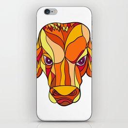 Brahma Bull Head Mosaic Color iPhone Skin