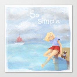 So simple Canvas Print