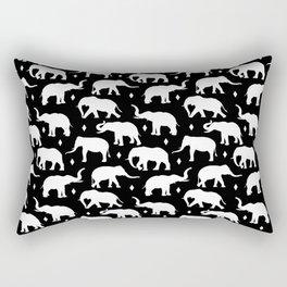White Elephants Rectangular Pillow