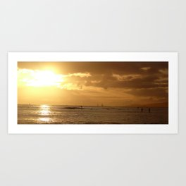 Waikiki sunset 1 Art Print