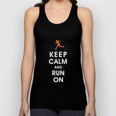 Keep Calm and Run On (male runner) Unisex Tank Top