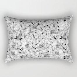 black tropical leaves pattern Rectangular Pillow