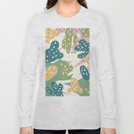 Cactus Pattern Long Sleeve T-shirt