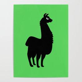 Angry Animals: llama Poster