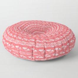 Pink Denim Mandala Floor Pillow