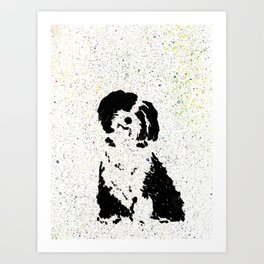 Happy Pup Art Print