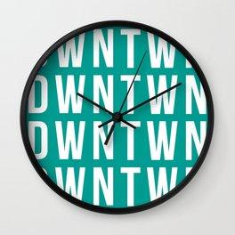 GREEN BLOCK Wall Clock