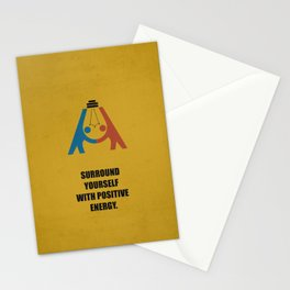 Lab No. 4 - Surround yourself with positive energy corporate start-up quotes Poster Stationery Cards
