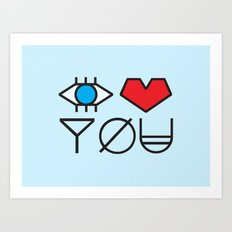 EYE HEART YOU Art Print
