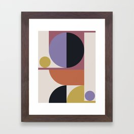 Mid Century Modern Abstract II Framed Art Print