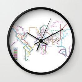 World Metro Subway Map Wall Clock