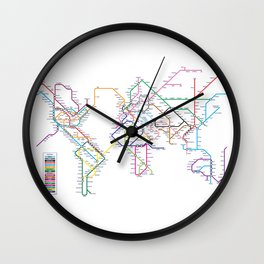 World Metro Subway Map Wall Clock