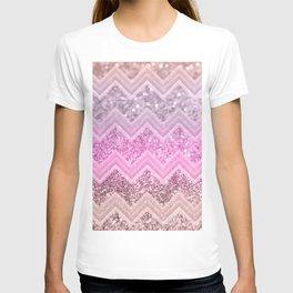 Unicorn Glitter Chevron #2 #shiny #decor #art #society6 T-shirt