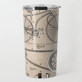patent Bicycle 1890 Rice Travel Mug