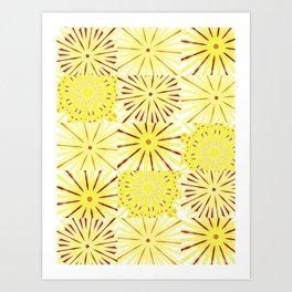 A starburst of sunflowers Art Print