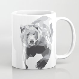 Geometric Bear on White Coffee Mug