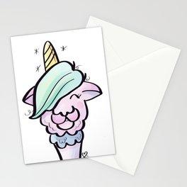 Emo Llamacorn T-shirt Stationery Cards