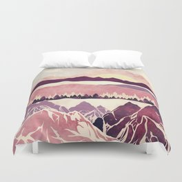 Burgundy Hills Duvet Cover