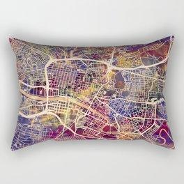 Glasgow City Scotland Street Map Rectangular Pillow