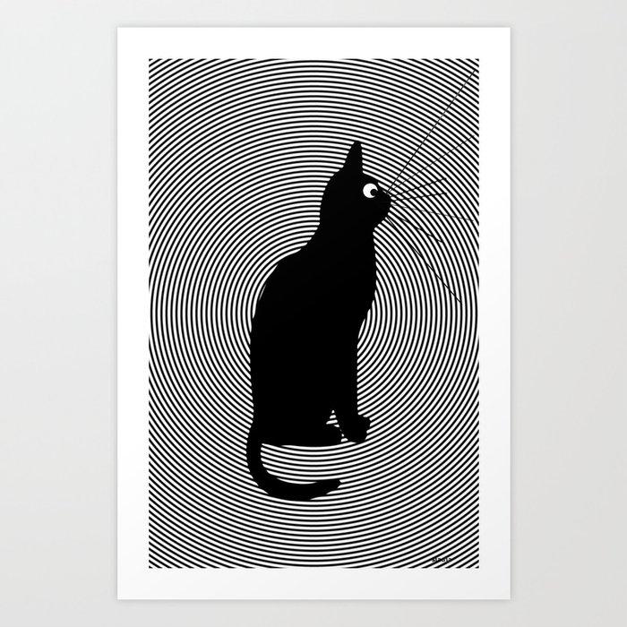 B cat Art Print