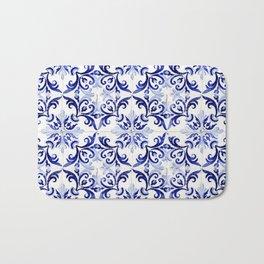 Azulejo V - Portuguese hand painted tiles Bath Mat