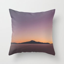 Sunrise over Salar De Uyuni Throw Pillow