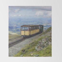 Train To Snowdon Throw Blanket