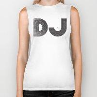 dj Biker Tanks featuring DJ by Jonah Makes Artstuff