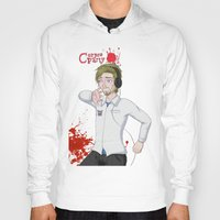 pewdiepie Hoodies featuring Pewdiepie: Corpse Party by SofusGirl