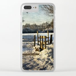 A Snowy Day In Tidmarsh Clear iPhone Case