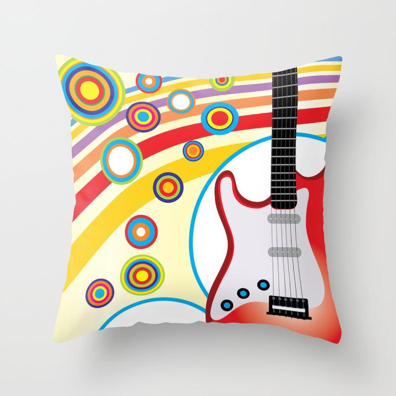 Guitar Throw Pillow By Terainbdesigns Society6