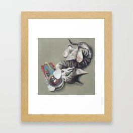 Spaceship kitten Framed Art Print