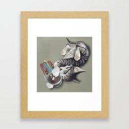 Spaceship kitten Framed Art Print