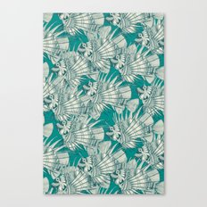 fish mirage teal Canvas Print
