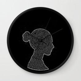 Mind Maze Portrait Wall Clock