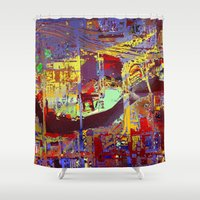 miami Shower Curtains featuring miami by donphil