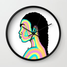 Girl Of Color Wall Clock