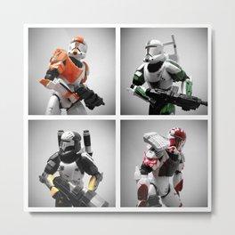 Star Wars: Republic Commando - Delta Squad Metal Print