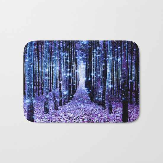 Magical Forest Turquoise Purple Bath Mat