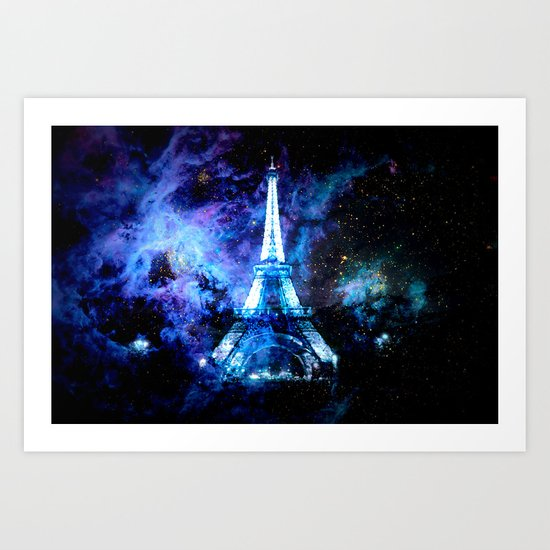 paRis galaxy dreams Art Print